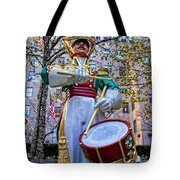 Drummer Boy  In Rockefeller Center Tote Bag