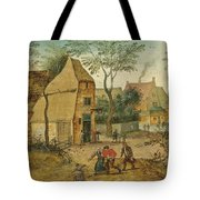 Drunkard Being Taken Home From The Tavern By His Wife Tote Bag