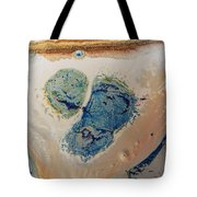 Dry Cream Crusted Gold Dust Trail Tote Bag