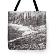 Dry Riverbed Tote Bag