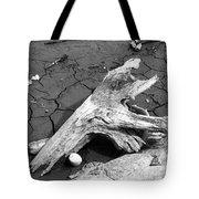Dry Wood On Barren Land Tote Bag