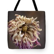 Drying And Aged Dahlia Tote Bag