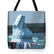 Drying Clothes In Ice Berg Alley Tote Bag