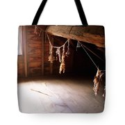 Drying Herbs In Attic Tote Bag