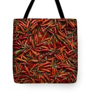 Drying Red Hot Chili Peppers Tote Bag