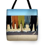 Drying Wet Suits Tote Bag
