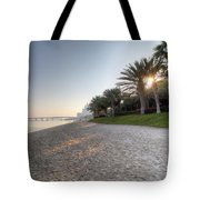 Dubai Beach Sunset Tote Bag