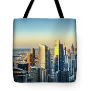 Dubai Towers At Sunset. Tote Bag