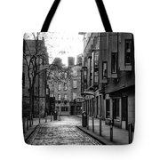 Dublin Ireland - Essex Street In Black And White Tote Bag