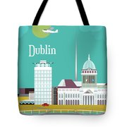 Dublin Ireland Vertical Scene Tote Bag