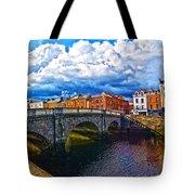 Dublin's Fairytales Around Grattan Bridge 2 Tote Bag