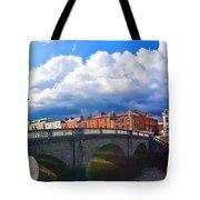 Dublin's Fairytales Around Grattan Bridge V2 Tote Bag