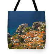 Dubrovnik Fortress From Above Tote Bag