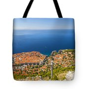 Dubrovnik From Above Panorama Tote Bag