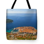 Dubrovnik Old Town From Above Tote Bag