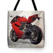 Ducati 1199 Panigale Tote Bag