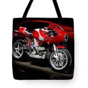Ducati Mhe And Ferrari Tote Bag