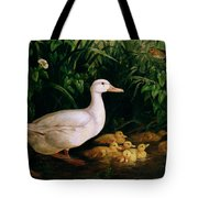 Duck And Ducklings Tote Bag by English School