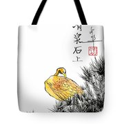 Duck And Pines Tote Bag