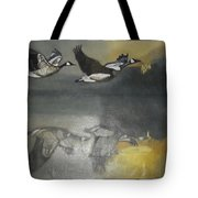 Duck Are Flying On The Sea Side Tote Bag