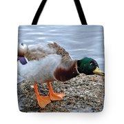 Duck Bath Alantic Beaches Nc Tote Bag