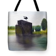 Duck Blind Tote Bag