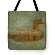 Duck Decoy Number Three Tote Bag