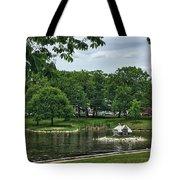 Duck House Deering Oaks Park Portland Maine Tote Bag