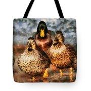 Duck - Id 16235-220308-3425 Tote Bag