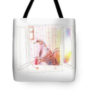 Duck In A Window Tote Bag