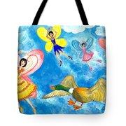 Duck Meets Fairy Ballet Class Tote Bag
