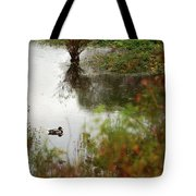 Duck On A Pond Tote Bag