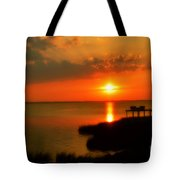 Duck Sunset Outer Banks North Carolina Tote Bag