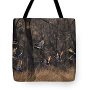Ducks In Flight Tote Bag