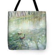 Ducks In The Shade    Tote Bag