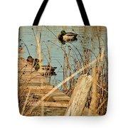 Ducks On A Pond Tote Bag