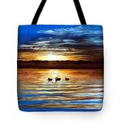 Ducks On Clear Lake Tote Bag