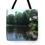Ducks On The River Tote Bag