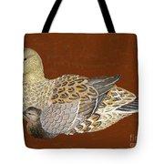 Ducks - Wood Carving Tote Bag