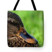 Ducky Up Close And Personal Tote Bag