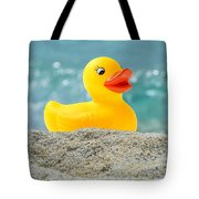 Ducky's Fun Day  At The Beach Tote Bag