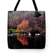 Duddingston Swan 17 Tote Bag