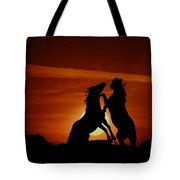 Duel At Sundown Tote Bag