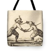 Duel With Swords Tote Bag