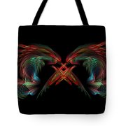 Dueling Dragons Tote Bag