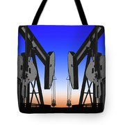 Dueling Oil Well Pumps Tote Bag