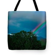 Dueling Rainbows Tote Bag