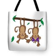 Duffworkscreative_monkeyfunlove_holdinghands Tote Bag