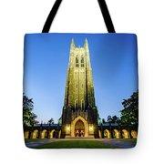 Duke Chapel At Dusk Tote Bag