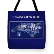 Duke University Blue And White Products Tote Bag